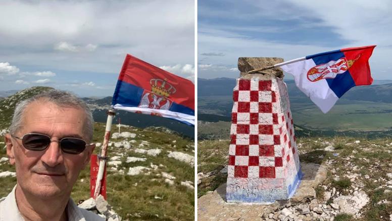 Vučićev zastupnik  podigao srpsku zastavu na Dinari
