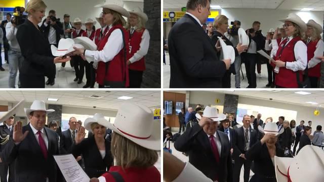 Predsjednica i suprug su dobili počasne, bijele šešire u Kanadi