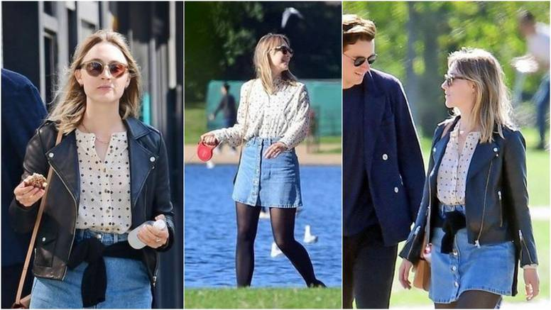 Denim je hit: Saoirse Ronan obožava retro suknje od trapera