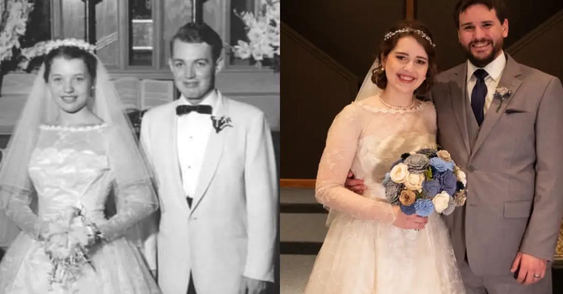 Udala se u bakinoj vjenčanici iz 1956., a izgledala je 'kao nova'