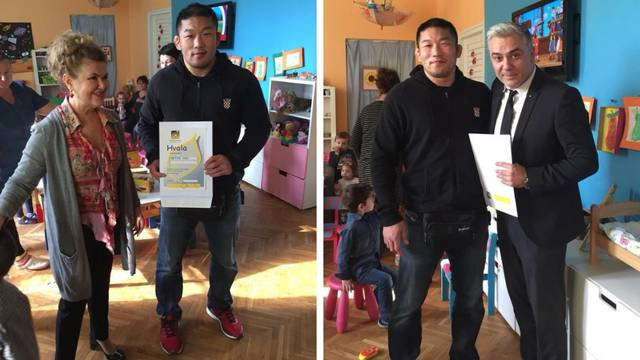 Veliko srce: Ishii donirao novac od borbe djeci u Nazorovoj ulici
