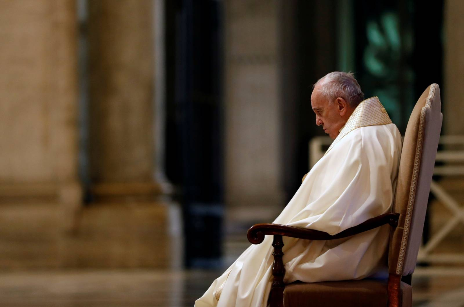 Pope Francis delivers an extraordinary blessing during the outbreak of coronavirus disease (COVID-19), at the Vatican