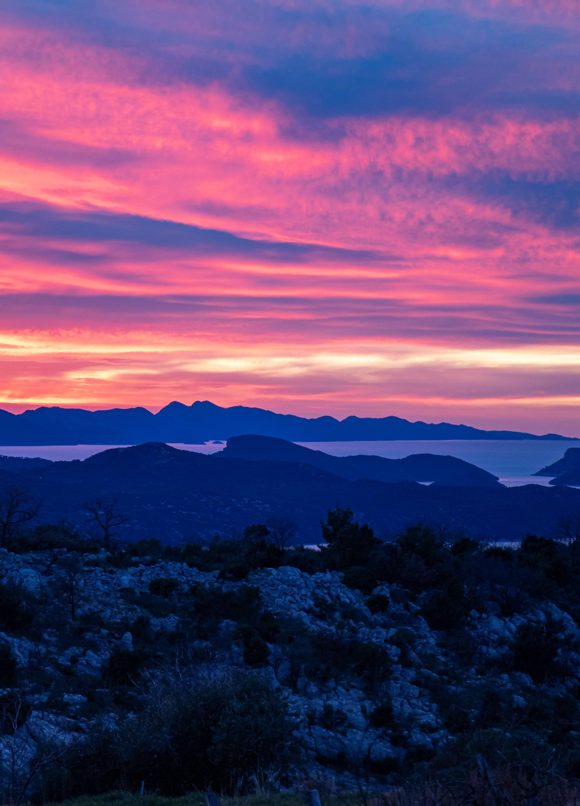 Sumrak nad Dubrovačkim primorjem