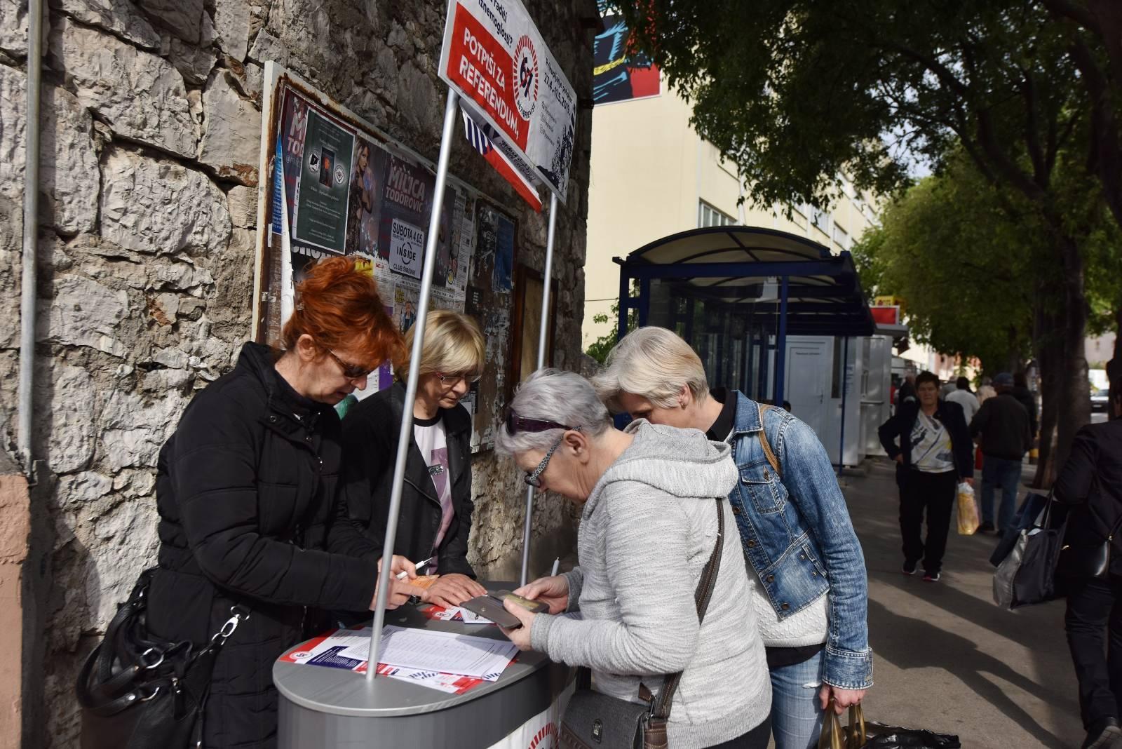 Šibenik: Sindikati još uvijek prikupljaju potpise za referendum protiv odlaska u mirovinu sa 67