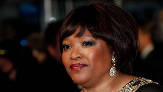 "FILE PHOTO: Zindzi Mandela, daughter of former South African president Nelson Mandela, arrives for the Royal premiere of ""Mandela: Long Walk to Freedom"" in London"
