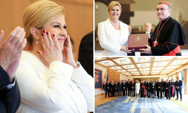 Emotivna Kolinda je Bozaniću uručila odlikovanje za Kuharića