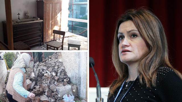 Glavna tajnica u ministarstvu graditeljstva bakici srušila zid