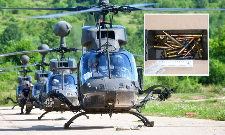 Streljivo koje su zaplijenili se koristi na Kiowa helikopterima