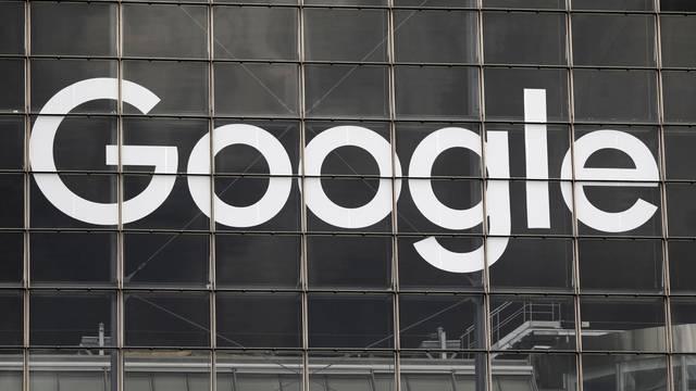 FILE PHOTO: Logo of Google on a building at La Defense