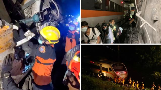 Najmanje 50 ljudi poginulo u željezničkoj nesreći na Tajvanu