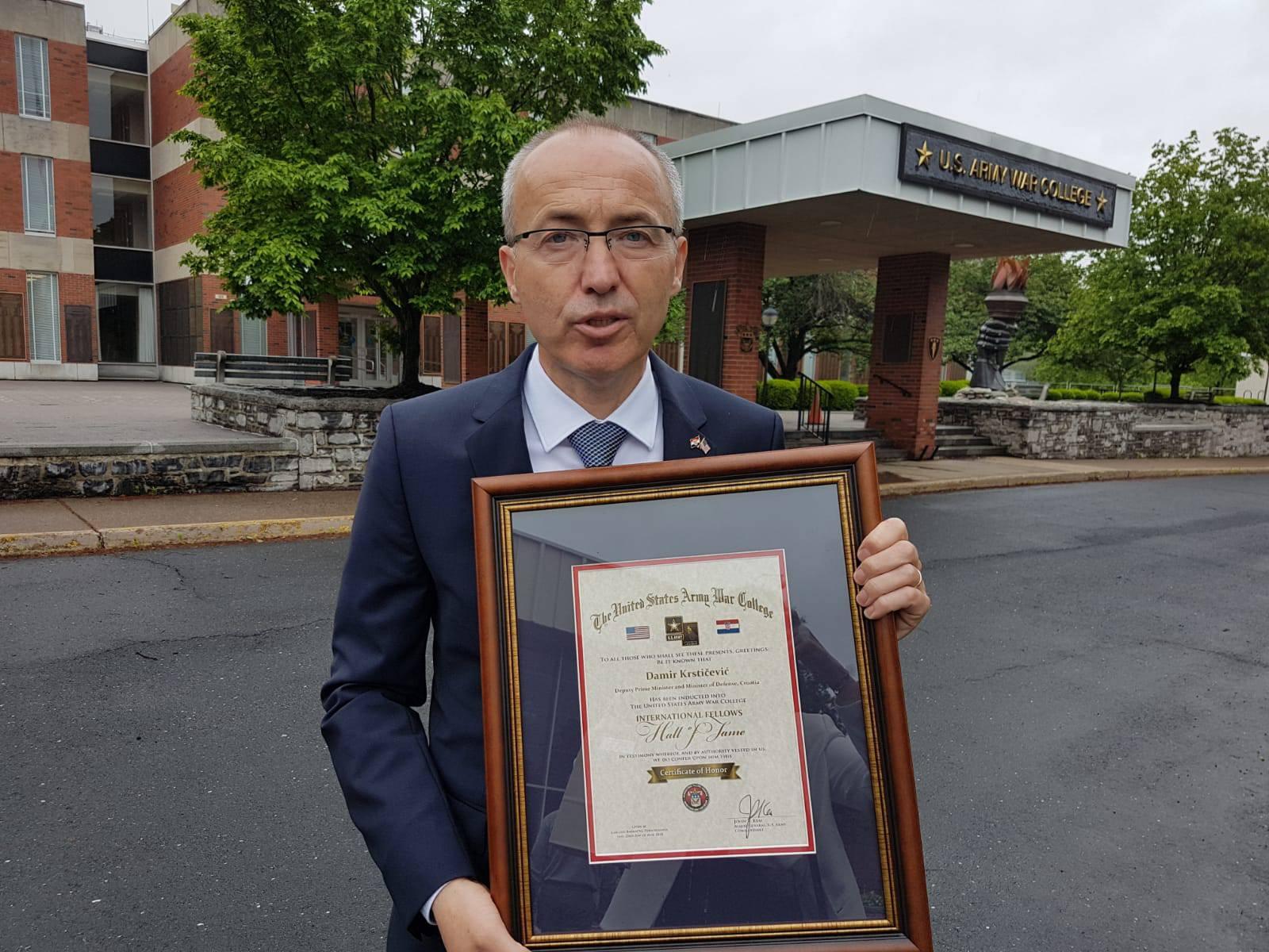 Krstičević  primljen u Kuću slavnih američke Ratne škole