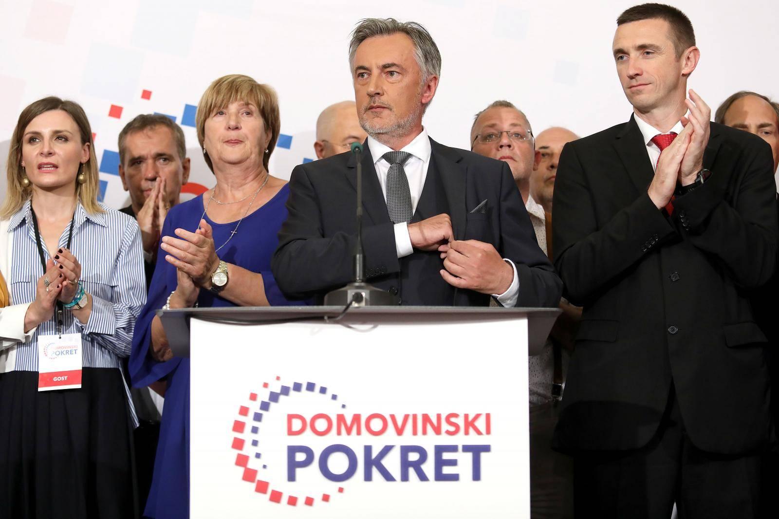Zagreb: Doček izbornih rezultata u stožeru Domovinskog pokreta