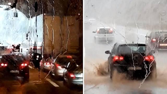 Tuča na autocesti: 'Vozači nisu htjeli iz tunela dok se ne smiri'