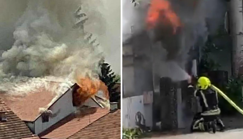 Buknula kuća u Dubravi, gasilo je 20 vatrogasaca sat vremena