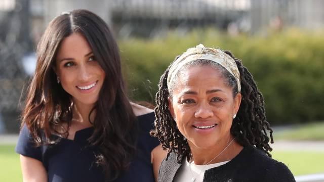 Meghan Markle and Doria Ragland arrive at Cliveden House Hotel