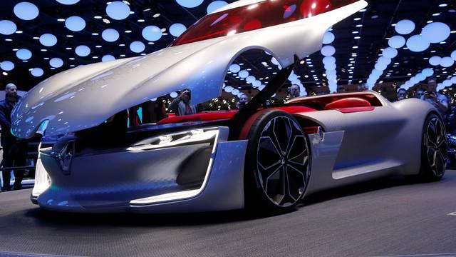 A Renault Trezor car is displayed at the Mondial de l'Automobile, Paris auto show, during media day in Paris