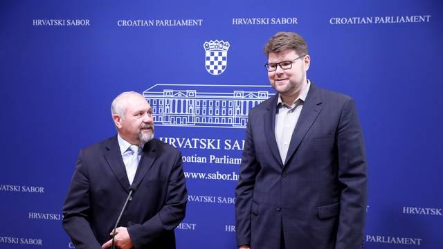 Zagreb: Konferencija za medije Silvana Hrelje i Peđe Grbina