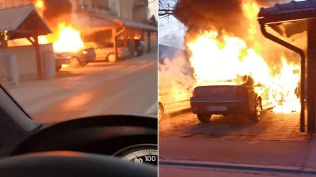 Vozio i snimio auto u plamenu: Vatra zahvatila još dva auta