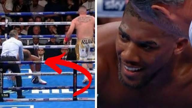 Pogledajte trenutak Joshuina pada i strašan nokaut Ruiza...