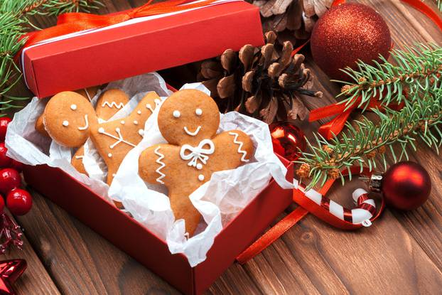 Christmas homemade gingerbread man cookies