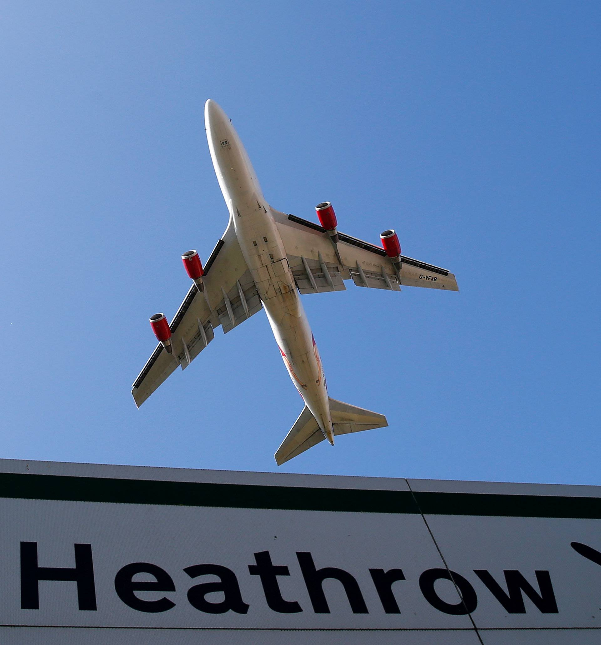FILE PHOTO: An aircraft takes off from Heathrow airport in west London