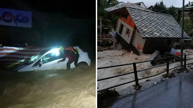 Dramatične snimke iz Italije: Strašna oluja odsjekla sela od svijeta, kuće tonu, ima mrtvih...