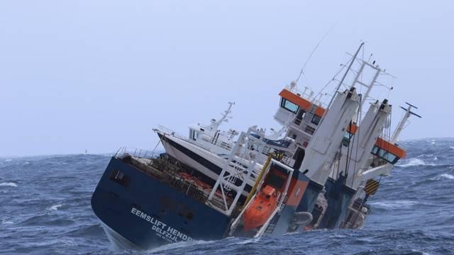 FILE PHOTO: Dutch cargo ship Eemslift Hendrika is seen in the Norwegian Sea