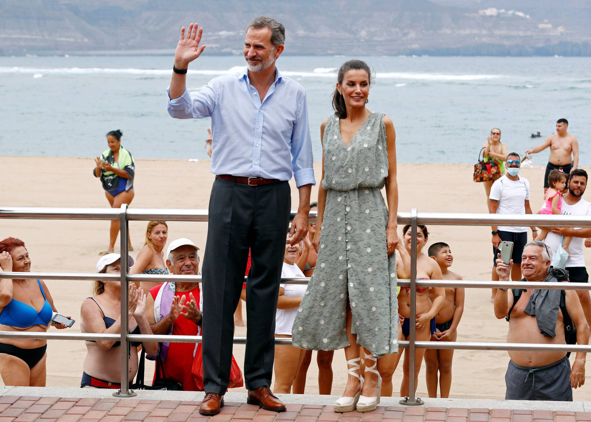King Felipe and Queen Letizia of Spain visit Las Palmas de Gran Canaria