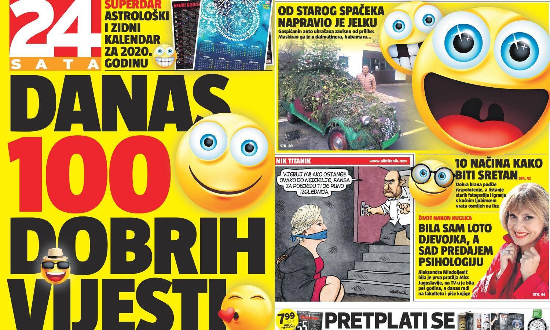 Danas u 24sata samo pozitiva: 100 sretnih vijesti iz Hrvatske