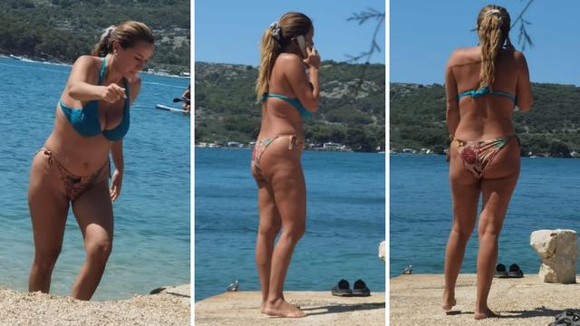 Nives Celzijus 'izronila' na plaži u Tisnom: 'Iznenadila nas je'