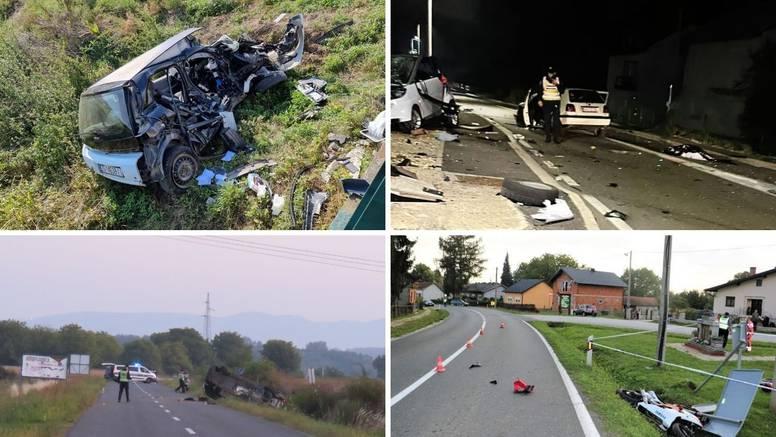 Tri mlade žene poginule su u četiri teške prometne nesreće, a četvrta samo čudom preživjela