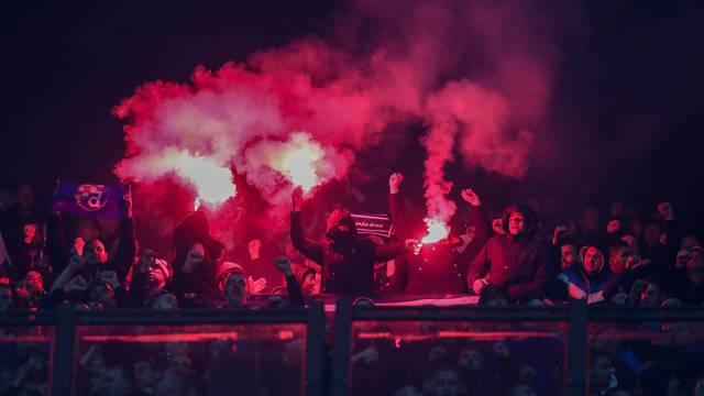 Milano: Navijači na tribinama tijekom utakmice Atalanta - GNK Dinamo