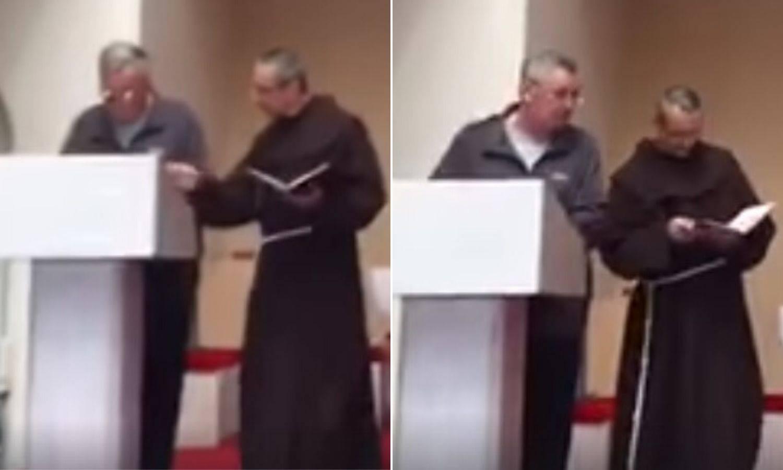 Socijalno distanciranje u crkvi: 'Ajde ća od mene, lupit ću te...'