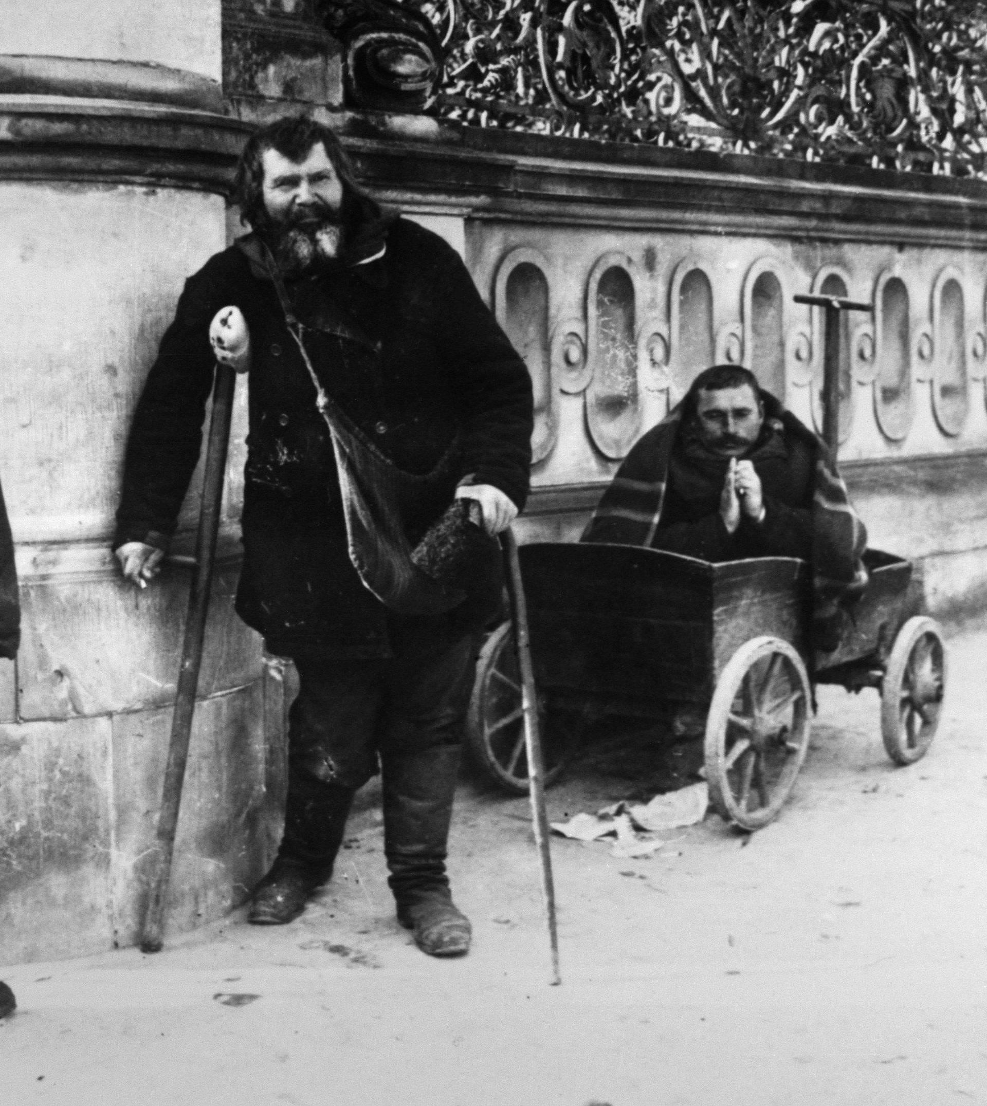 Jüdischer Bettler in Lodz / 1915