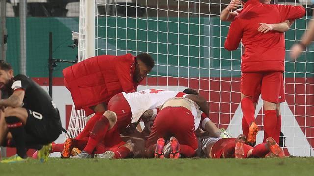 firo: 02.02.2021 Soccer: Soccer: DFB Pokal season 2020/21 RW Essen ...
