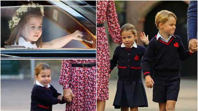 Uzbuđena Charlotte: Princeza s četiri godine krenula u školu