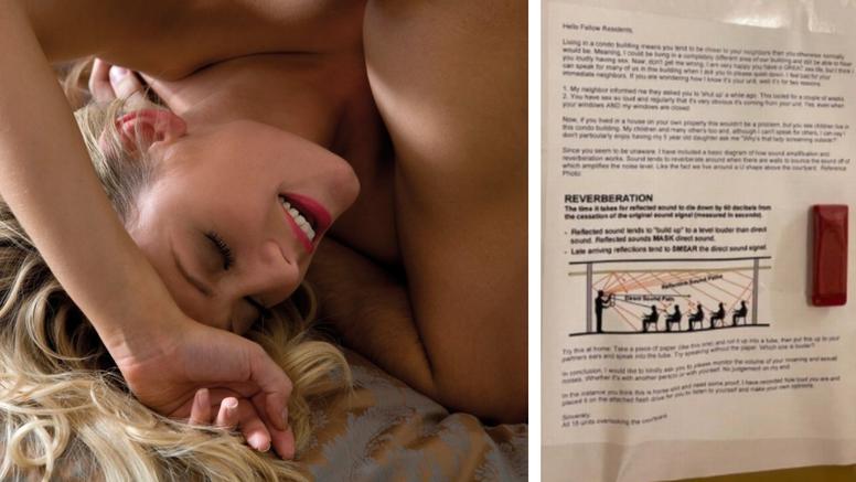 Bučni bračni par: Susjedi im na vratima ostavili poruku i snimku njihovog glasnog seksa