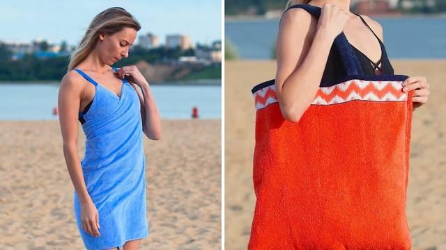 Ne bacajte stare ručnike već napravite torbu, haljinu, tepih
