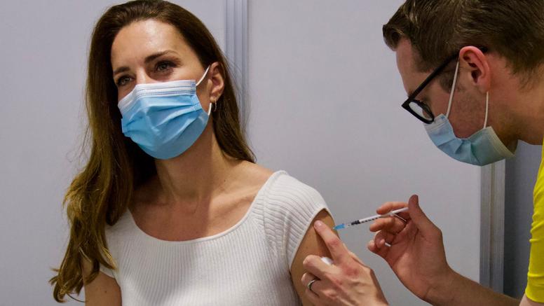 Kate  u ležernom izdanju primila prvu dozu cjepiva protiv korone