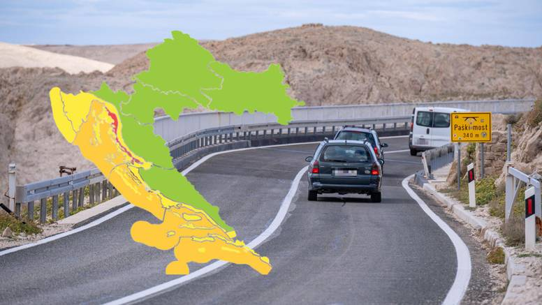 Crveno i narančasto upozorenje za priobalne dijelove Hrvatske: Udari olujne bure do 130 km/h