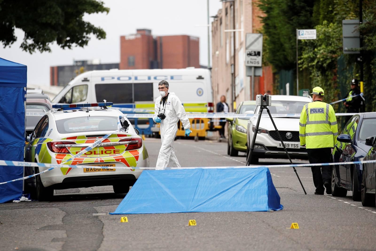 Scene of reported stabbings in Birmingham