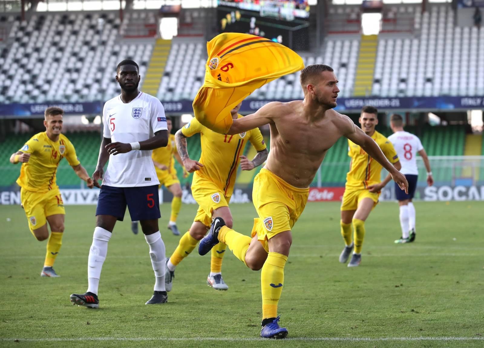 England U21 v Romania U21 - UEFA European Under-21 Championship - Group C - San Marino Stadium
