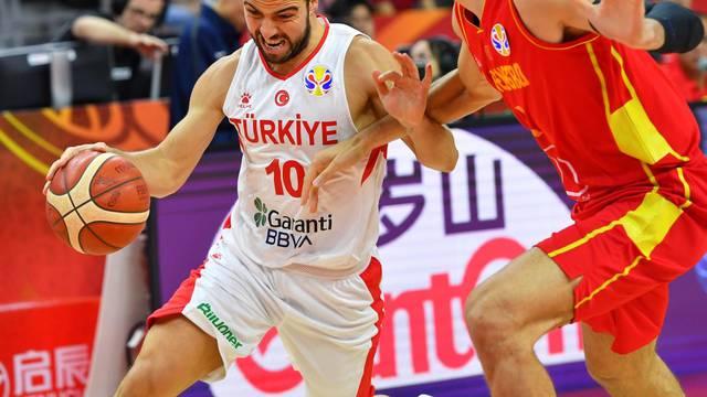 (SP)CHINA-DONGGUAN-BASKETBALL-FIBA WORLD CUP-GROUP O-TUR VS MNE(CN)