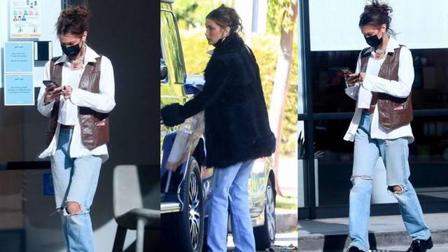 Bella Hadid ima omiljene hipi komade: Kožnati prsluk i bunda