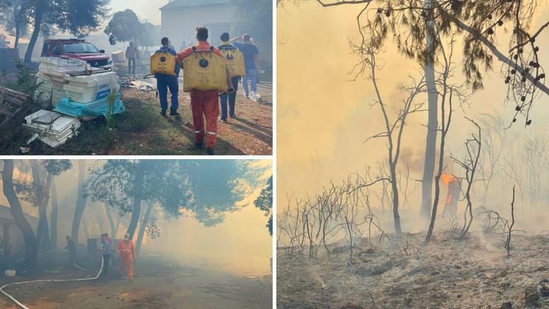 Požar na Ugljanu izbio zbog otvorenog plamena ili gorivih tvari. Morali evakuirati bolnicu