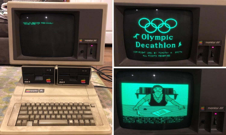 Na tavanu pronašao 30 godina star Apple IIe koji i dalje  radi