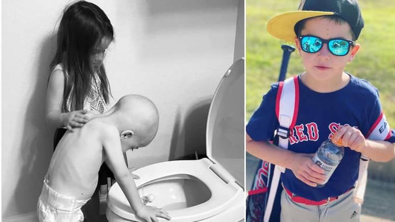 Dječak (6) s fotografije koja je rasplakala svijet pobijedio rak: 'Opet normalno ide u školu'
