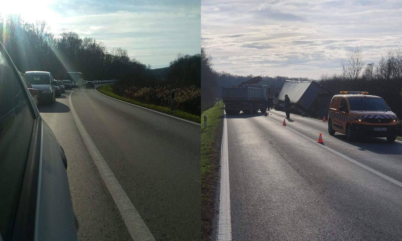 Kamion sletio s ceste i završio u šumi: Prevrnuo se u zavoju