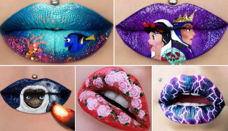Fantastična umjetnost kojoj su platno ženske usne - predivno