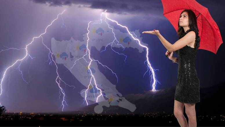 Žuti alarm za veći dio Hrvatske: Bit će vjetra, grmljavine i kiše